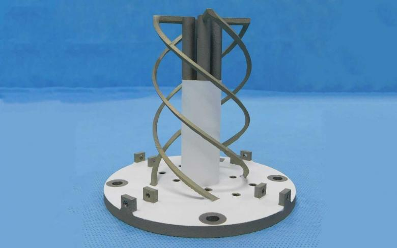 Rendering of the 3D printed helical antenna. Image via SENER.