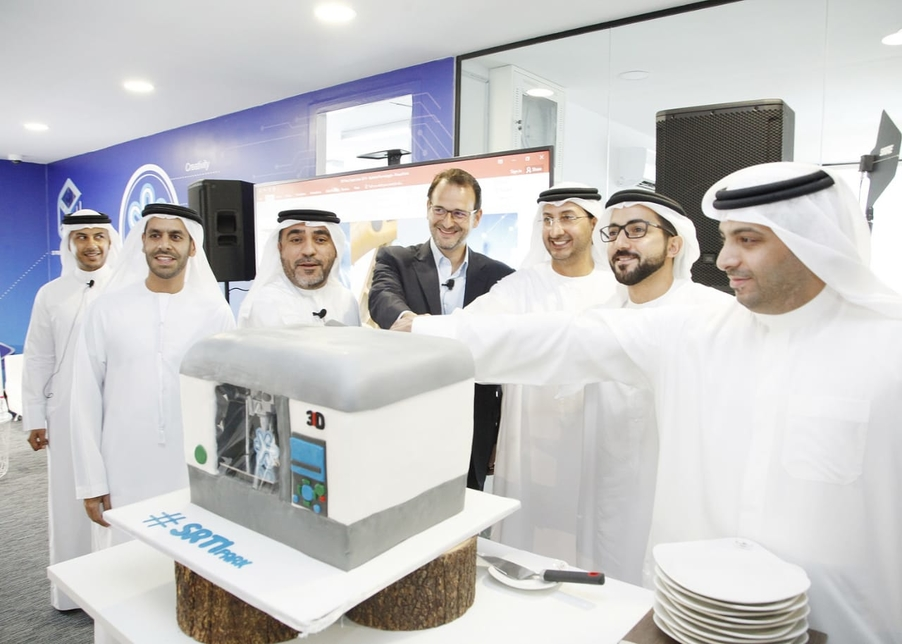 The opening of the Middle East Additive Manufacturing Centre. Photo via SRTIP.