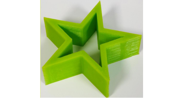 Green 3D printed antimicrobial silicone from STERNE. Photo via STERNE