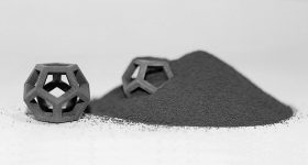 Binder jet 3D printed tungsten powder. Photo via ExOne