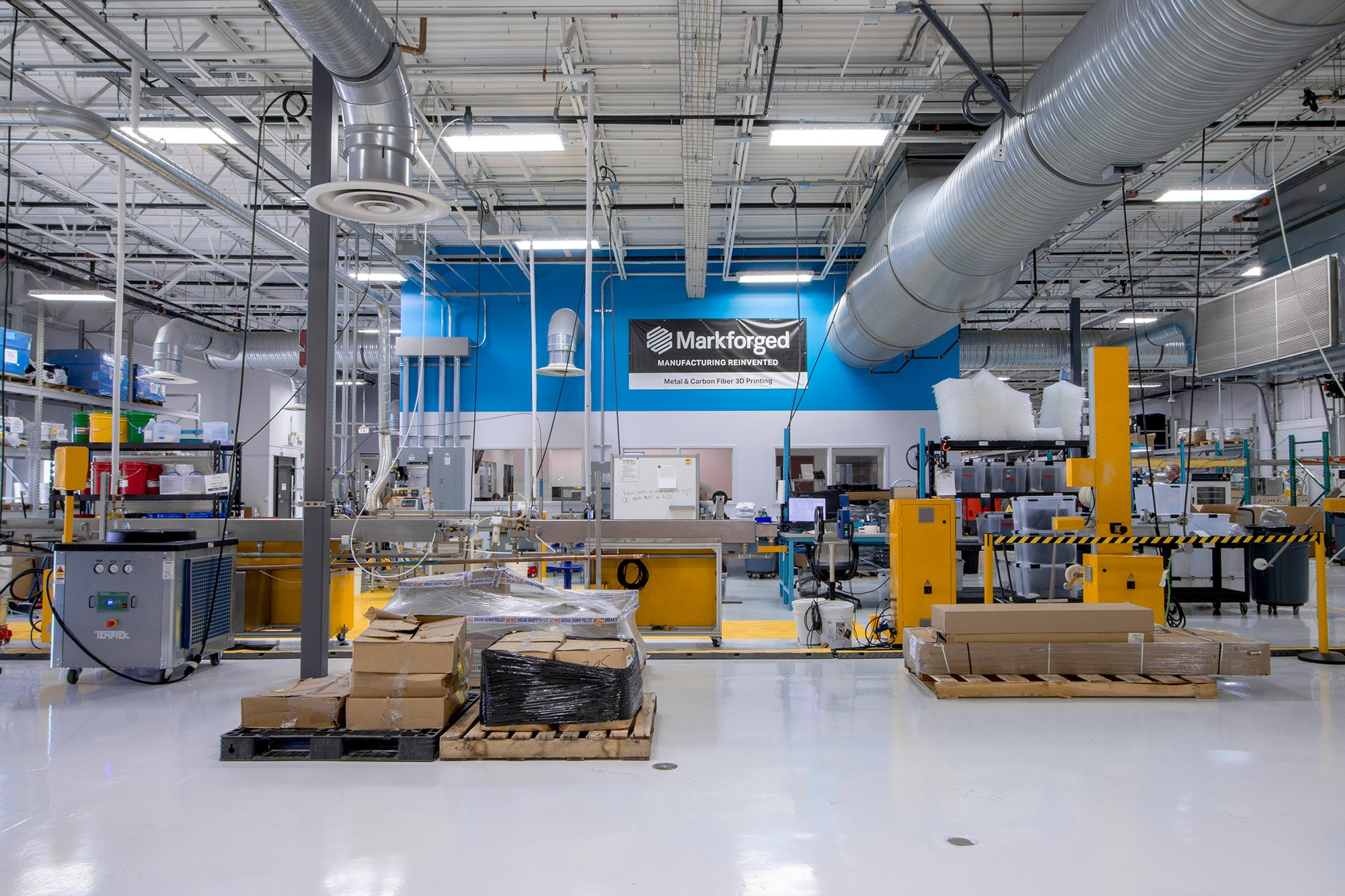 Inside the Billerica, Massachusetts facility. Photo via Markforged.