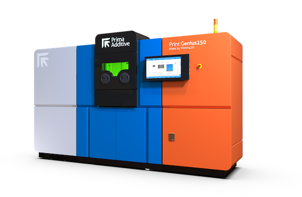 The vibrant Print Genius 250 machine from Prima Additive will be hard to miss at hall 11.0 stand C28. Photo via Prima Additive