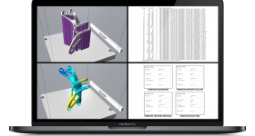 Insights into the optimal part build orientation in order to minimize supports, distortion, effort to remove supports, part material, and printing time. Image via Atlas 3D.