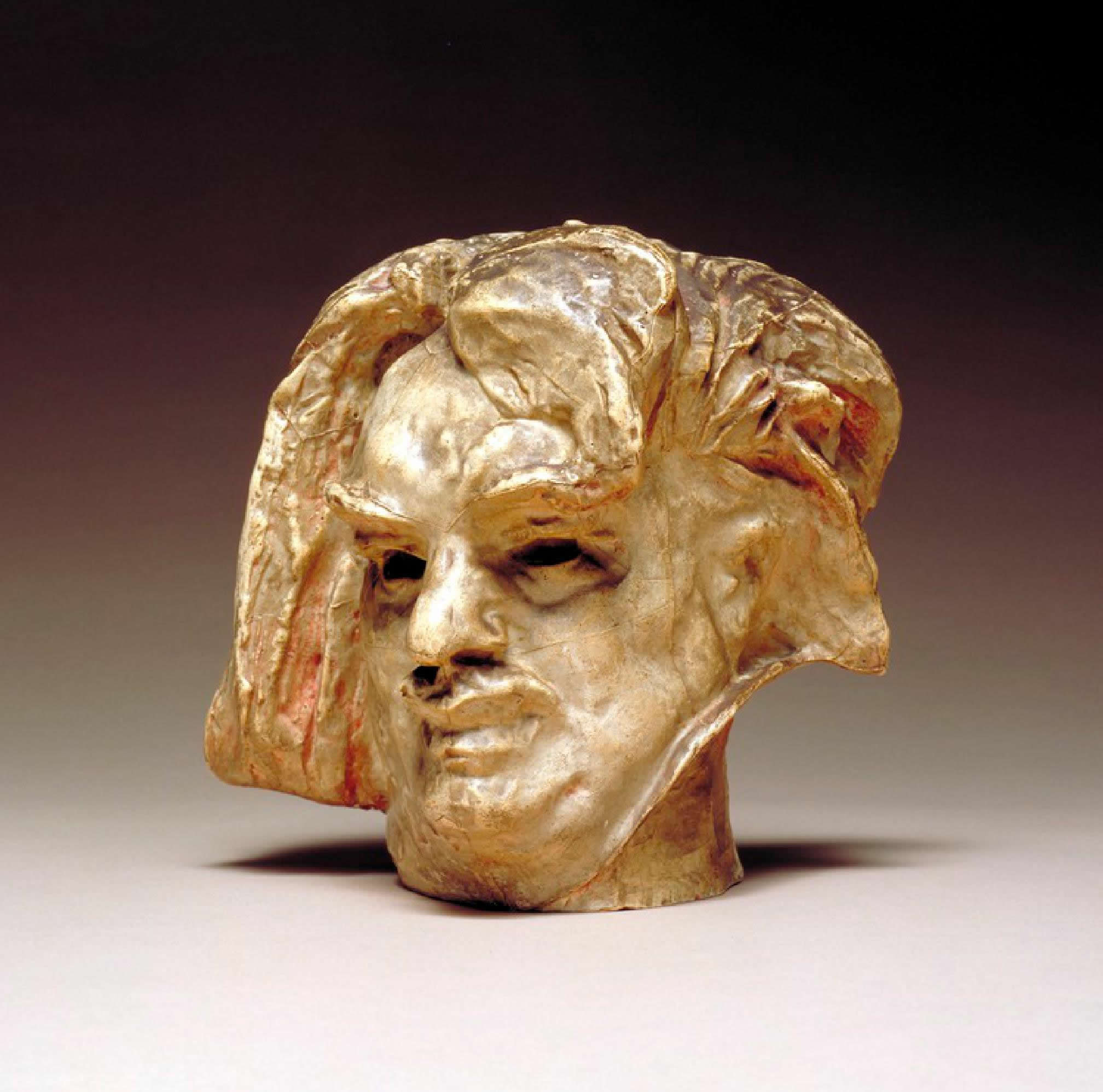 A 3D printed replica of Auguste Rodin's Hanako and Head of Balzac. Photo via the Nasher Sculpture Center.