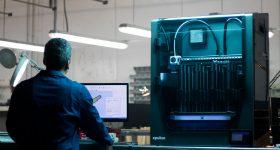 BCN3D Epsilon 3D printer in the workspace. Photo via BCN3D.