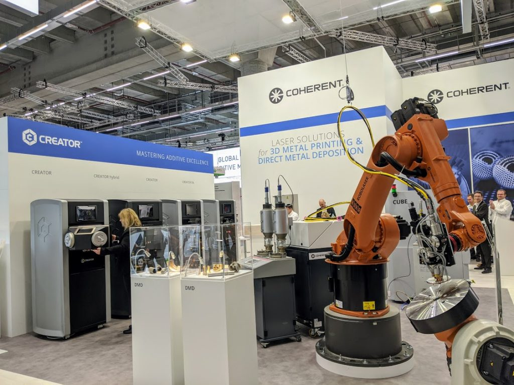 COHERENT at formnext 2019. Photo by Michael Petch.