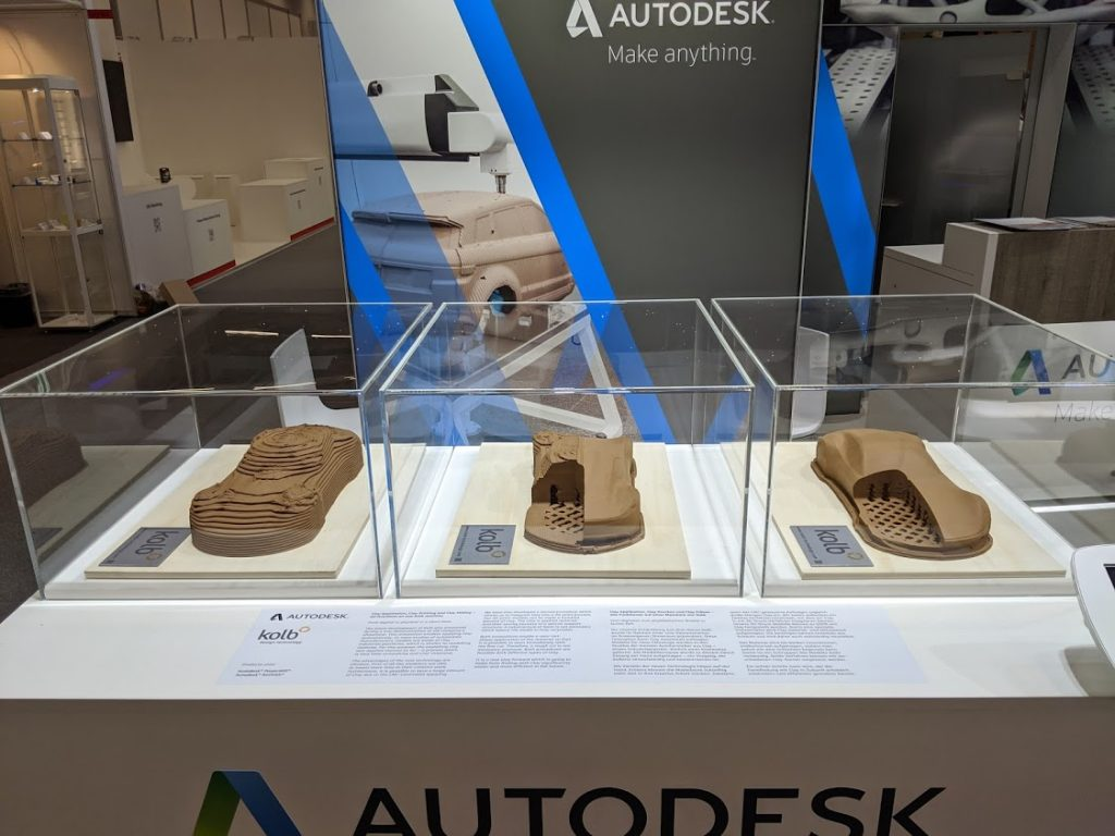 Clay 3D printing and milling with Kolb and Autodesk. Photo by Michael Petch.