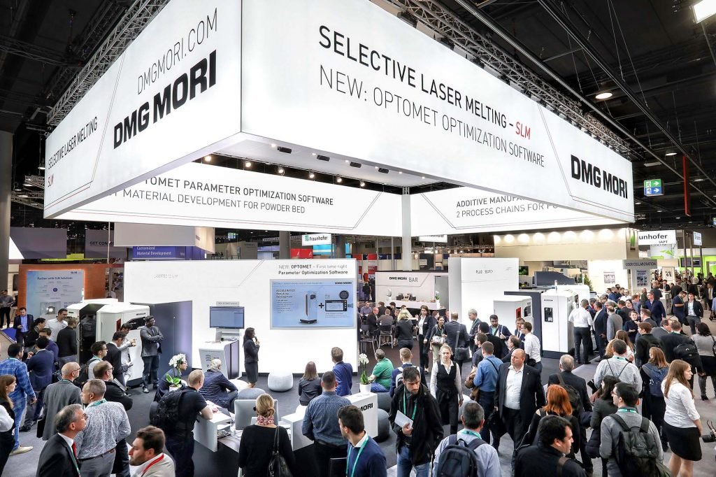 DMG Mori at a prior tradeshow. Photo via DMG Mori