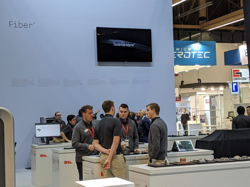 Desktop Metal carbon fiber 3D printing is at formnext 2019. Photo by Michael Petch.