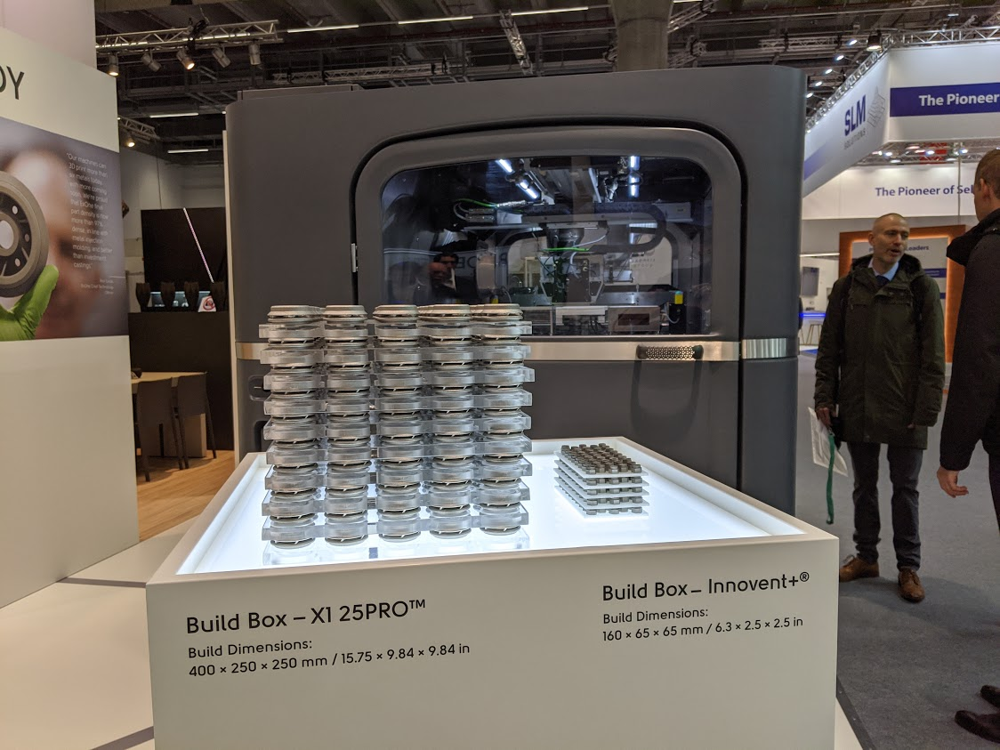 ExOne X1 25PRO at formnext 2019. Photo by Michael Petch.