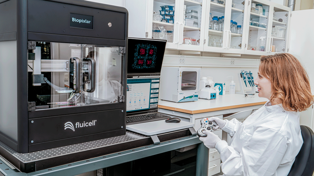 Fluicell's Biopixlar 3D bioprinter. Photo via Fluicell.