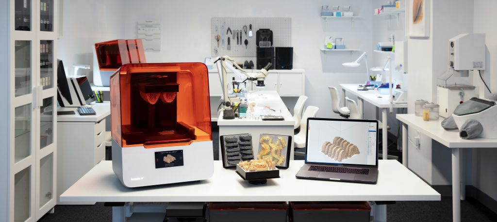 Formlabs Form 3B printer in lab. Photo via Formlabs.
