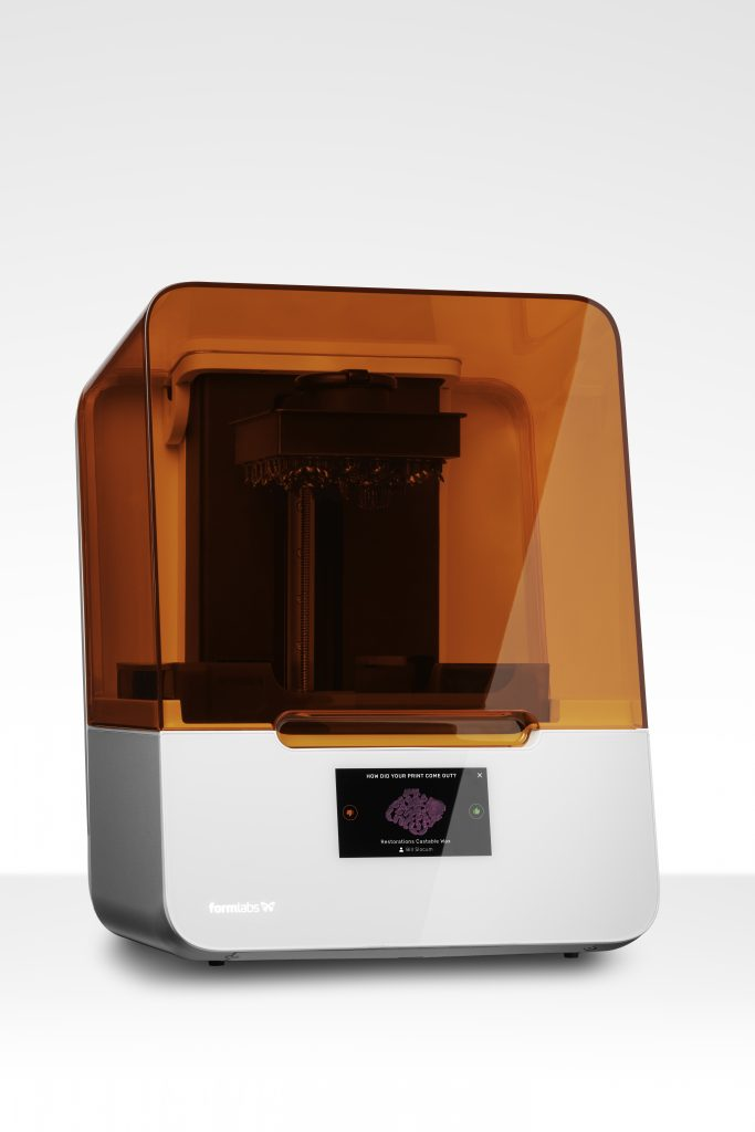 The Formlabs Form 3B printer with castable resin. Photo via Formlabs.