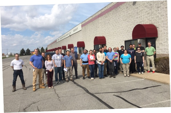 Formlabs Ohio and Spectra team photo. Photo via Formlabs