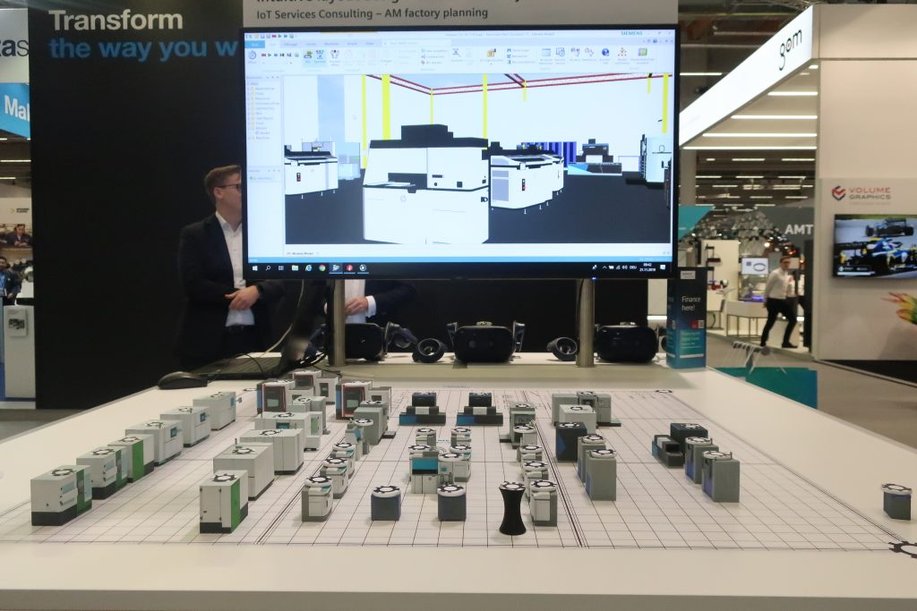 Intuitive factory planning from Siemens. Photo by Beau Jackson