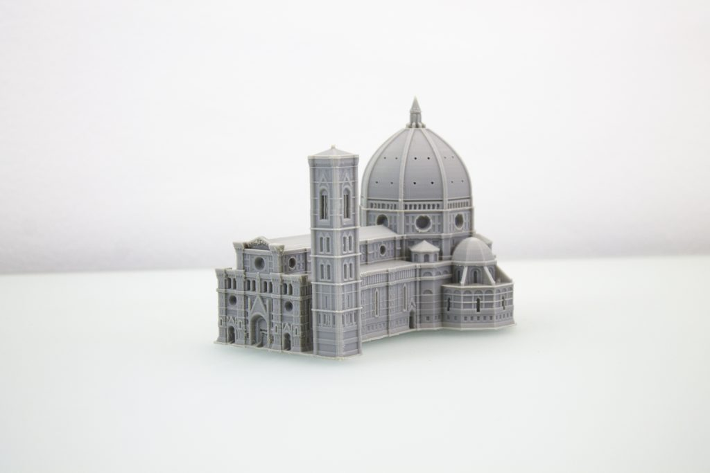 Florence Cathedral 3D printed in ABS. Layers are barely visible and the object is printed with very few surface defects.