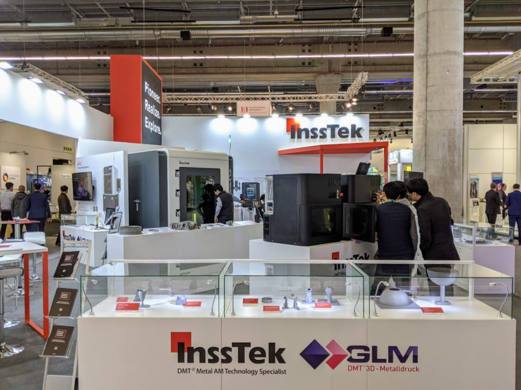 InssTek at formnext 2019. Photo by Michael Petch.