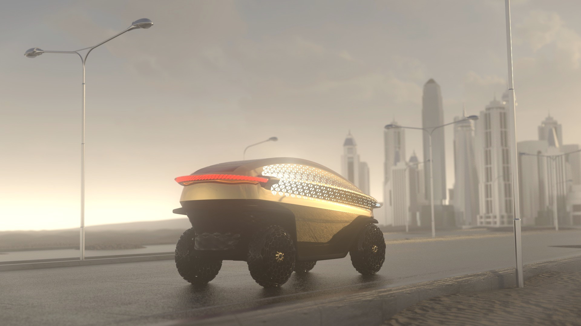 Digital render of a customized LOCI vehicle. Image via BigRep.