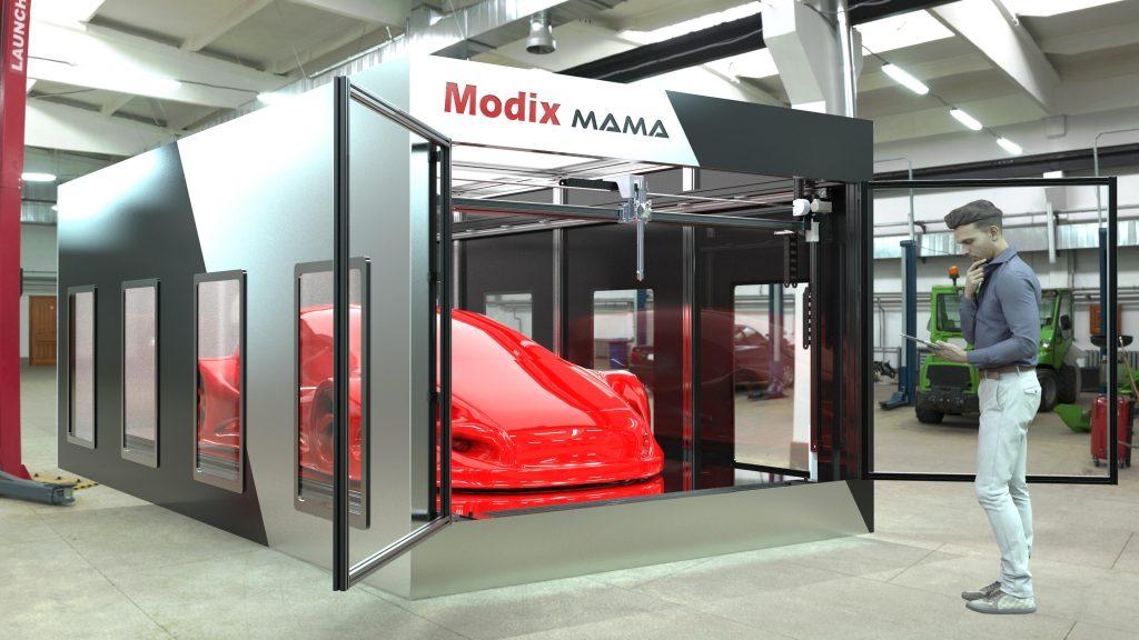 Visual of the Modix MAMA 3D printer. Image via Modix