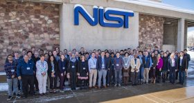 Attendees of PAM2019 outside the NIST facility. Photo via NIST.