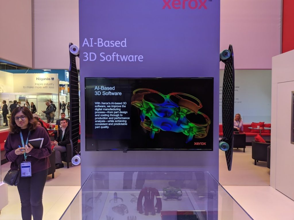 Xerox AI-based software for additive manufacturing. Photo by Michael Petch.