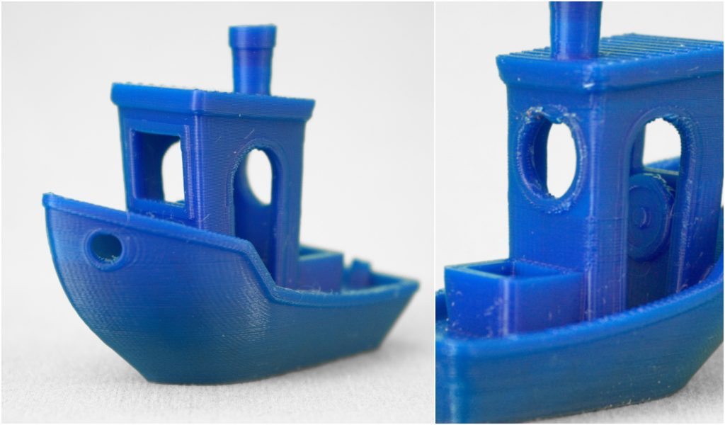 An update to the Flashprint slicer helped create a near-perfect quality 3D Benchy model.