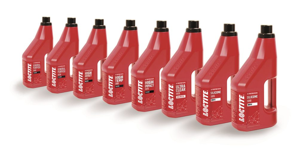 Henkel's new Loctite photopolymers range. Photo via Henkel