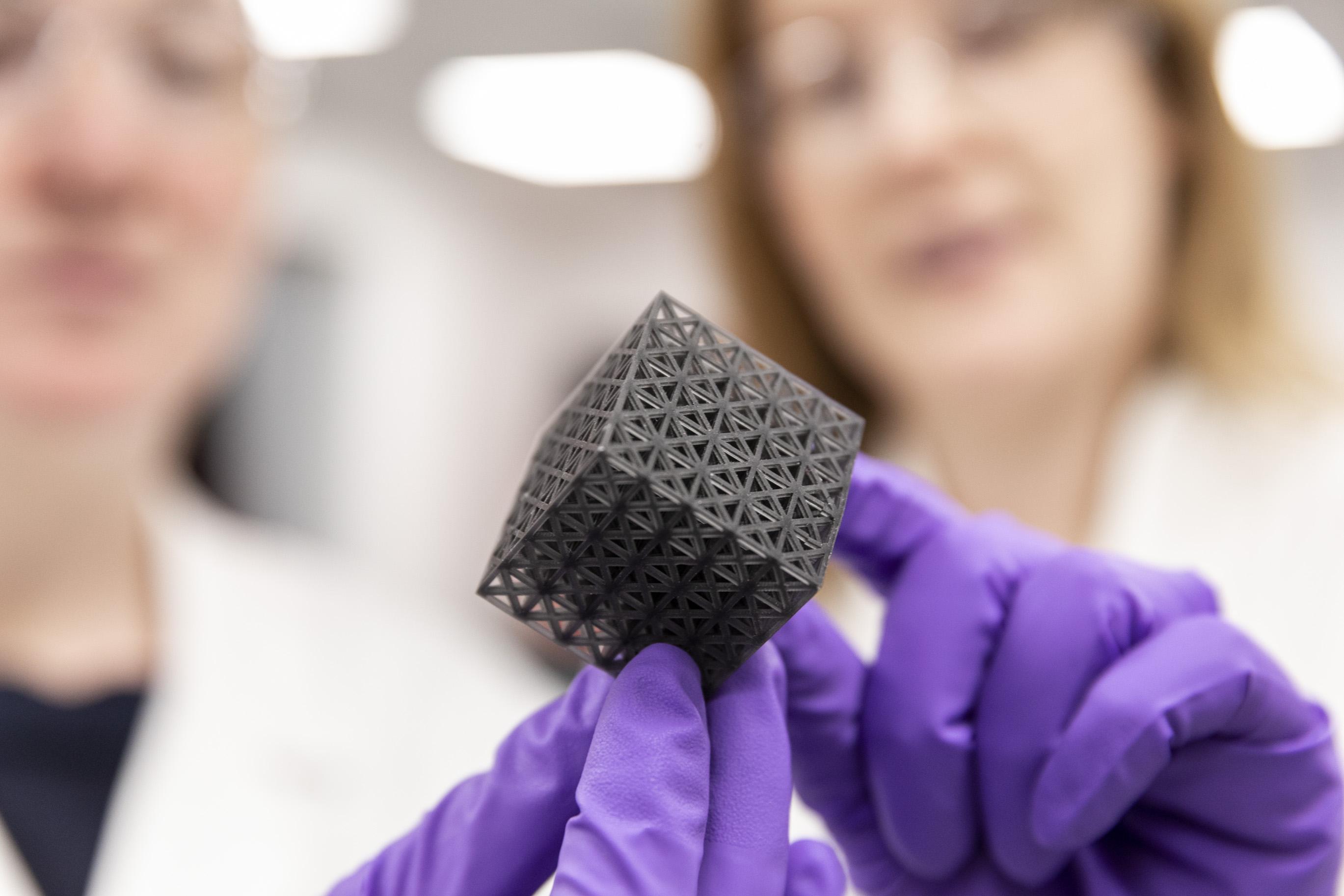 3D printed sample of Locitite resin. Photo via Henkel