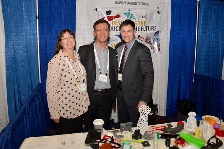 Mobile Additive Manufacturing Platform Team (L:R), Elaine Kohrman, Dr. Ismail Fidan, Eric Wooldridge. Photo via SCC.