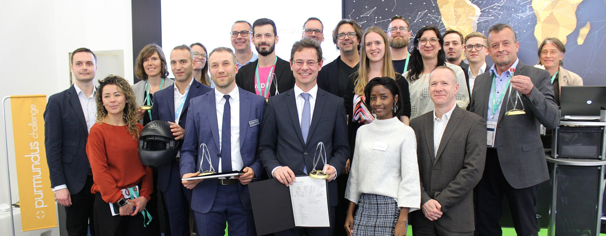 The 2019 purmundus challenge winners. Photo via purmundus challenge.