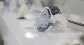 3D printed a replica of a human heart. Photo via GE Healthcare.