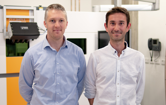 Left to right: Marten Jurg, Co-founder and CEO of Additive Assurance and Andrey Molotnikov, Co-founder and Chief Scientist of Additive Assurance Photo via Additive Assurance