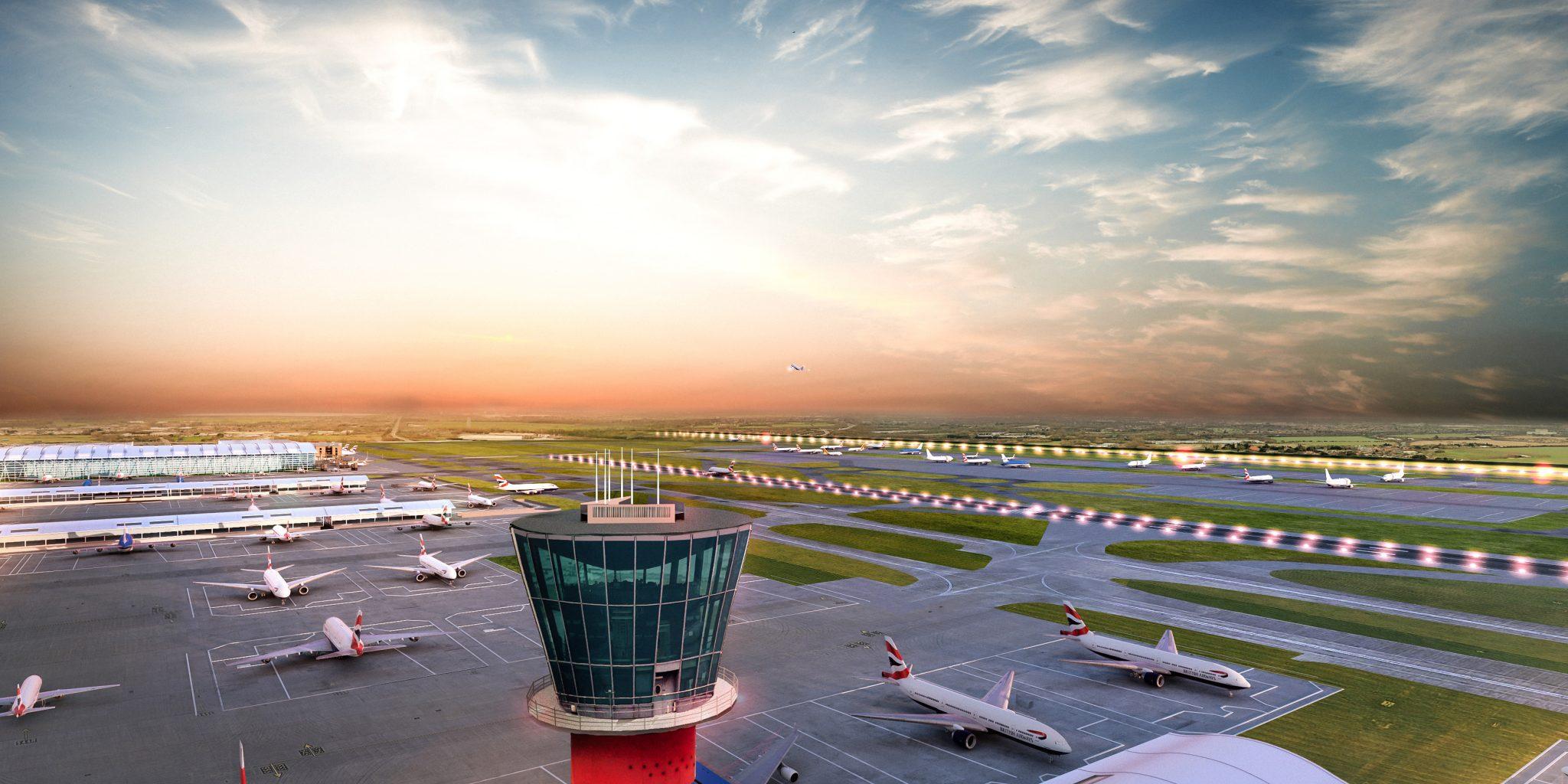 Visualization of the London Heathrow expansion. Image via London Heathrow.
