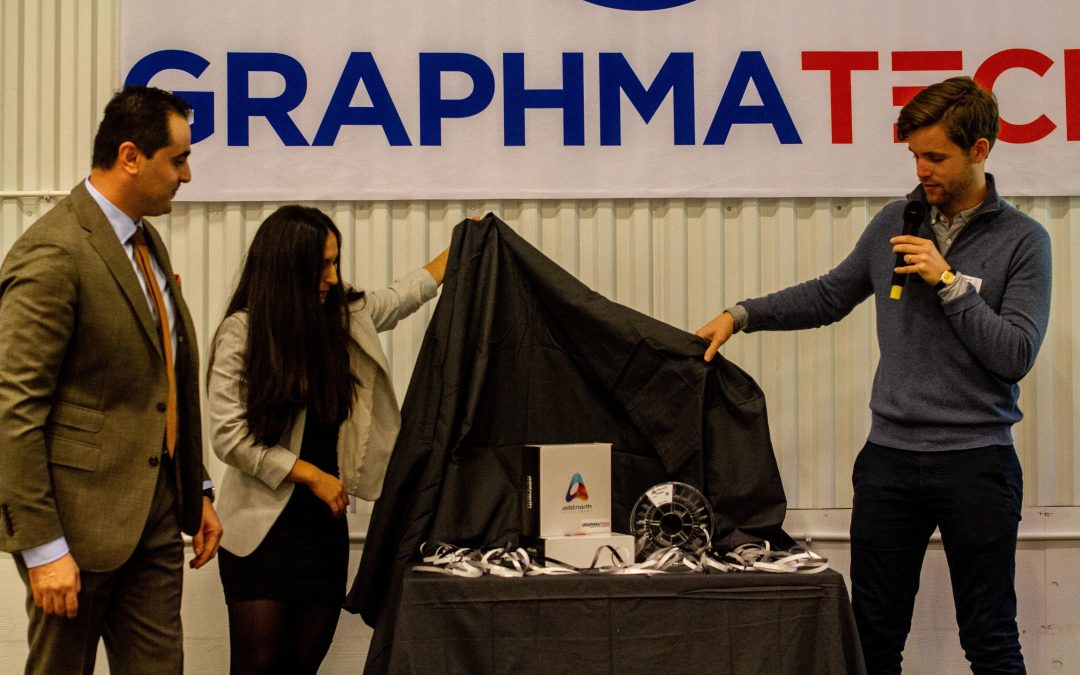 Graphmatech and Add North launch highly conductive 3D printable material with Aros Graphene. Photo via Graphmatec.