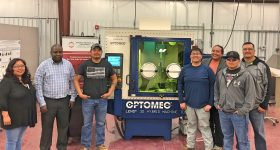 Dr. Monsuru Ramoni, Ph.D., assistant professor of Industrial Engineering at Navajo Technical University and his team of students will be investigating the benefits of Additive Manufacturing for space exploration with the help of Optomec LENS for NASA. Photo via Optomec.