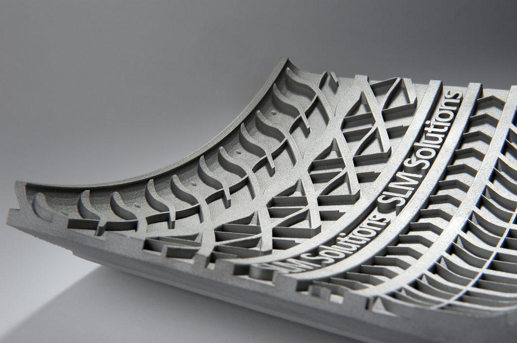 SLM Solutions 3D printed tire mould segment. Photo via SLM Solutions