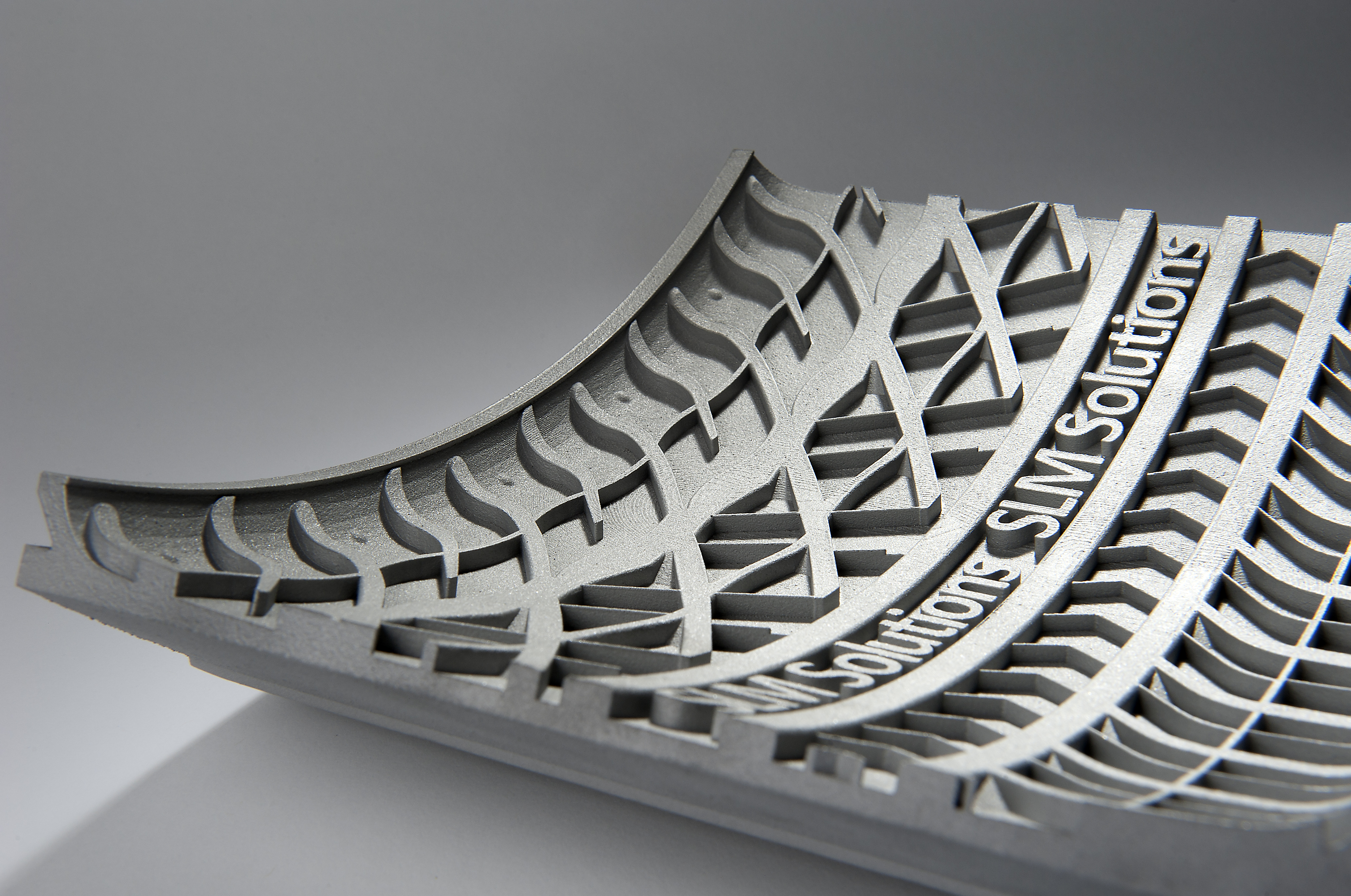 SLM Solutions 3D printed tire mould segment. Photo via SLM Solutions