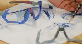 3D printed Oakley eyewear frames created using HP Multi Jet Fusion. Photo via HP.