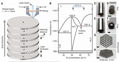 Structure of the elastocaloric nickel-titanium alloy. Image via Science magazine.