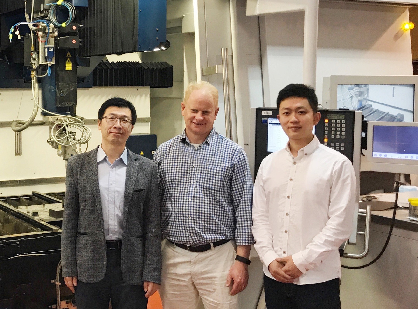 MIT researchers involved in the multi-partner collaboration: Dr Dong Qiu, Professor Mark Easton and Dr Duyao Zhang. Photo via RMIT.
