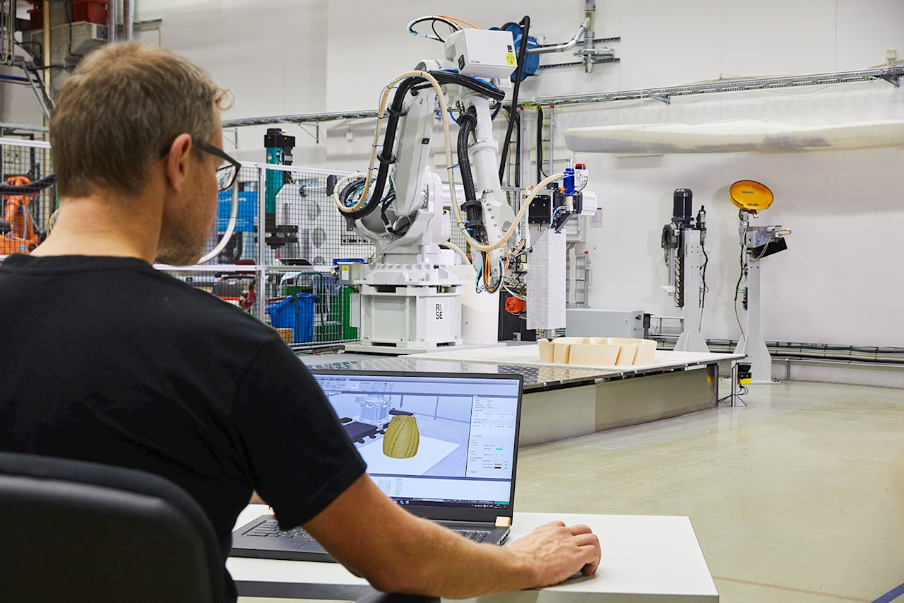ABB's new software for robotics 3D printing. Photo via ABB.