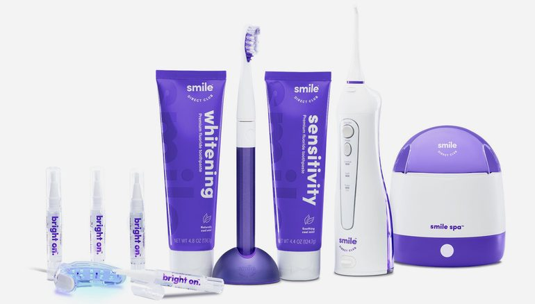 SmileDirectClub's line of oral care products available at Walmart. Photo via SmileDirectClub.