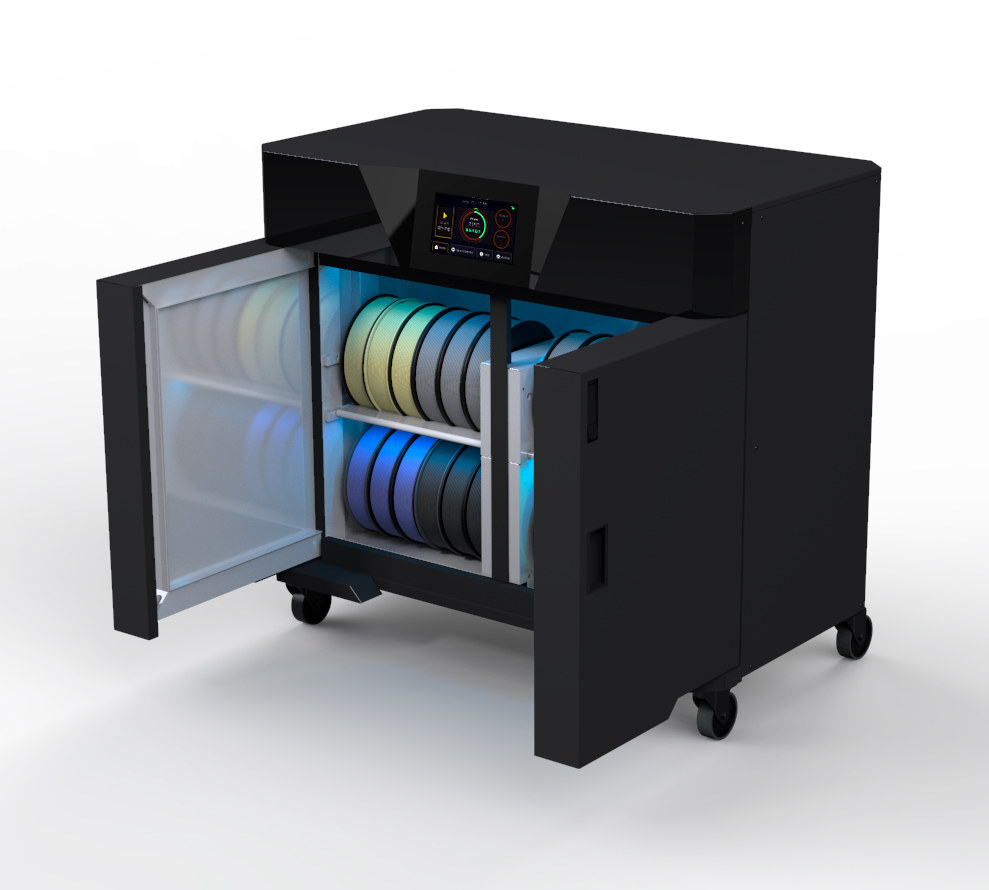 Smart International's Smart3D Multimaterial Dryer for fast, efficient and simultaneous 3D filament drying. Photo via Smart International