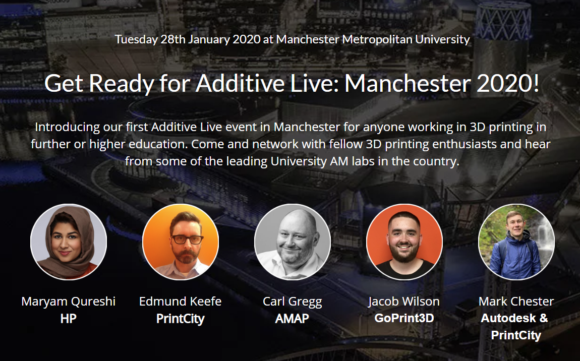 The Additive Live banner. Image via GoPrint3D.