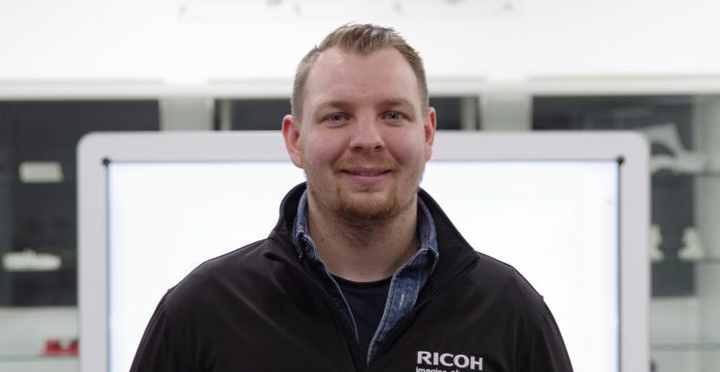 Chris Allport, formerly of 3T-am, now acts as Regional Additive Manufacturing Sales Manager, UK, at Ricoh. Photo via Ricoh.