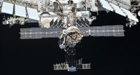 The ISS Exterior. Photo via Roscosmos/ NASA/TTUHSC El Paso.