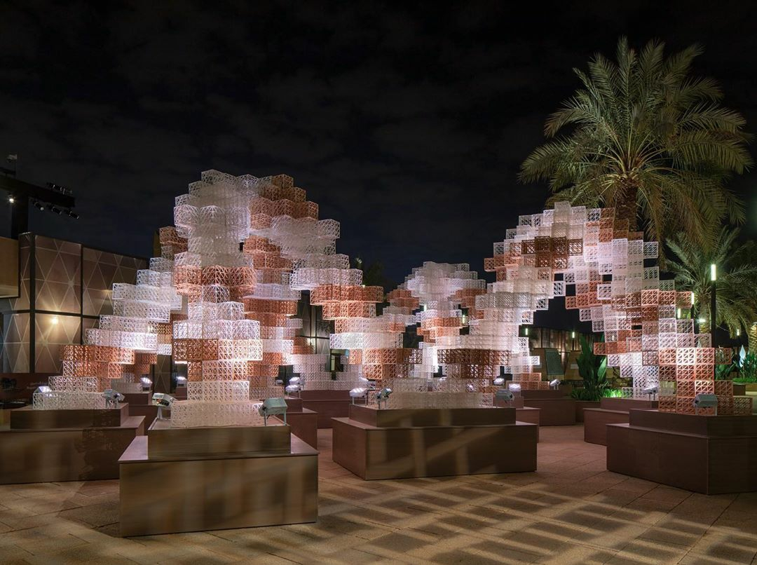 The Pixel Gate. Photo via Precht/Mamou-Mani.