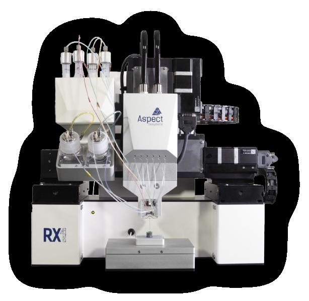 The RX1 bioprinter. Photo via Aspect Biosystems.