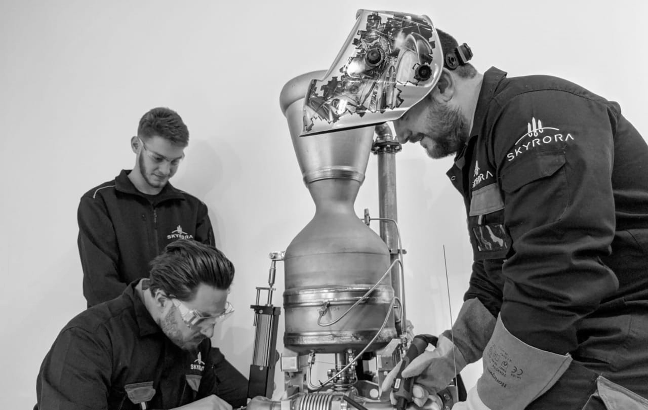 The 3-tonne engine has been constructed using additive manufacturing techniques and advanced materials, including Inconel. Photo via Skyrora