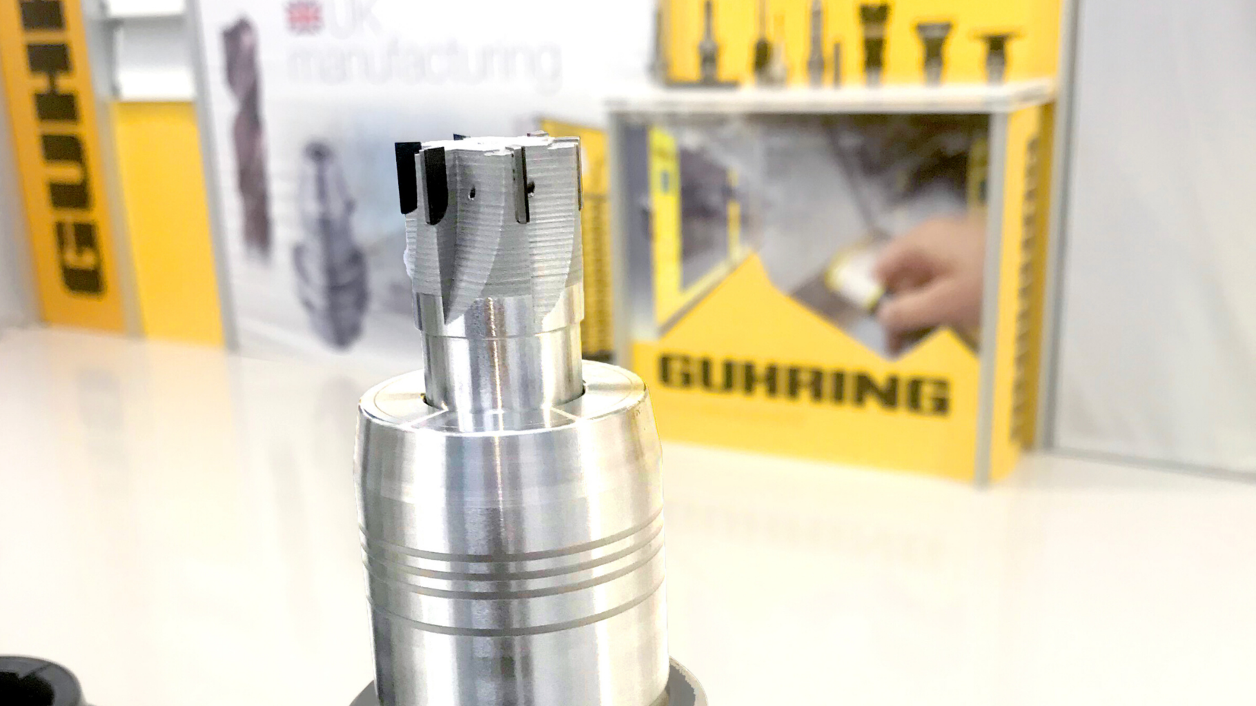 Guhring UK has sent metal 3D printed tools to customers to test new concepts. Photo via Markforged.